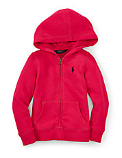 Girls 2-6x Fleece Zip-Front Hoodie