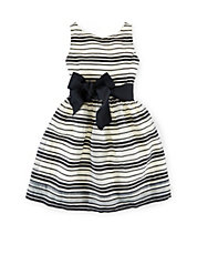 Girls 2-6x Block Striped Dress