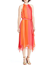 Silk Ombré Halter Dress