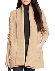 Cabled Wool-Cashmere Cardigan