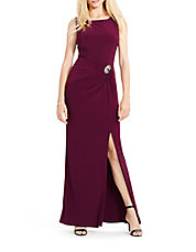 Ruched Sleeveless Gown