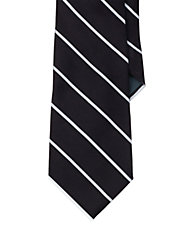 Striped Silk Satin Tie