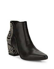Cynn Studded Leather Ankle Boot