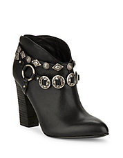 Fusion Leather Ankle Boots