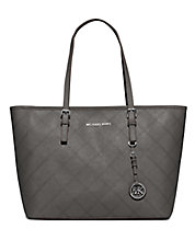 Jet Set Diamond-Stitched Leather Tote