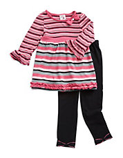 Girls 2-6x Two-Piece Knit Dress And Leggings Set