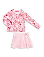Girls 2-6x Rose Pullover and Skirt Set