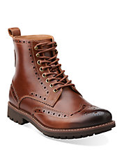 Montacute Leather Wingtip Boots