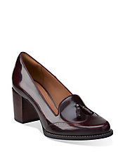 Tarah Rosie Leather Loafer Pumps