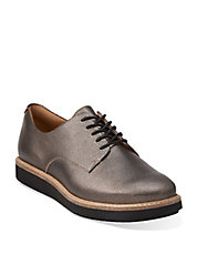 Glick Darby Platfrom Metallic Leather Oxfords
