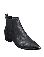 Yale Embossed Leather Point Toe Chelsea Boots