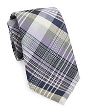 Plaid Silk and Wool Tie