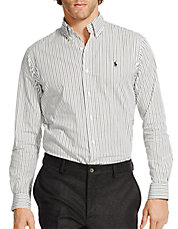 Slim-Fit Striped Poplin Shirt