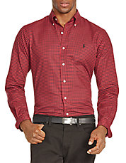 Slim-Fit Buffalo Check Twill Shirt