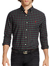 Slim-Fit Checked Twill Shirt