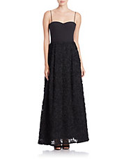 Lace Skirt Evening Gown