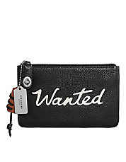 Wanted Small Leather Pouch