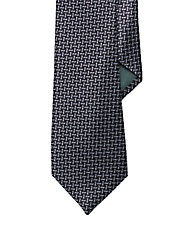 Geometric Macclesfield Silk Tie