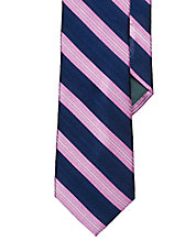 Striped Chevron Silk Tie