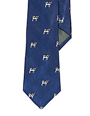 Silk Farmhouse Cow Tie