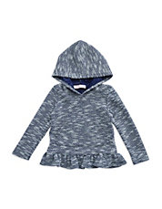 Girls 2-6x Hooded Peplum Top