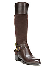 Lapis Leather Boots - Wide Calf