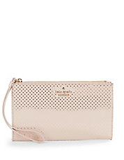 Leyna Dotted Leather Wristlet