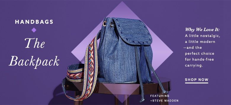 discount designer purses pqy9  Steve madden denim backpack at lordandtaylorcom