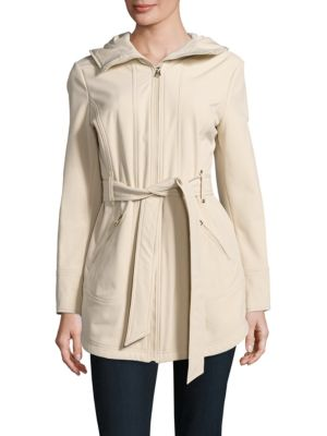 Water Resistant Hooded Raincoat by Jessica Simpson