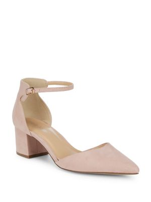 Jenny Ankle Strap Suede Pumps by Lexi And Abbie