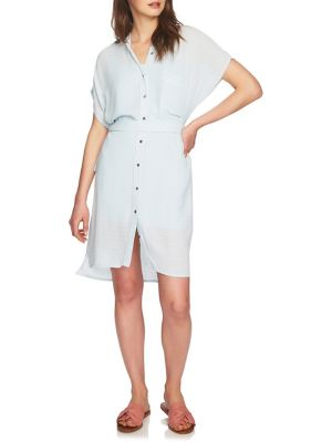 April Belted Stripe Shirtdress by 1.State