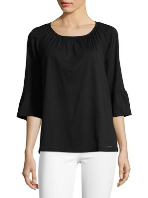 Three Quarter Bell Sleeve Top by Michael Michael Kors