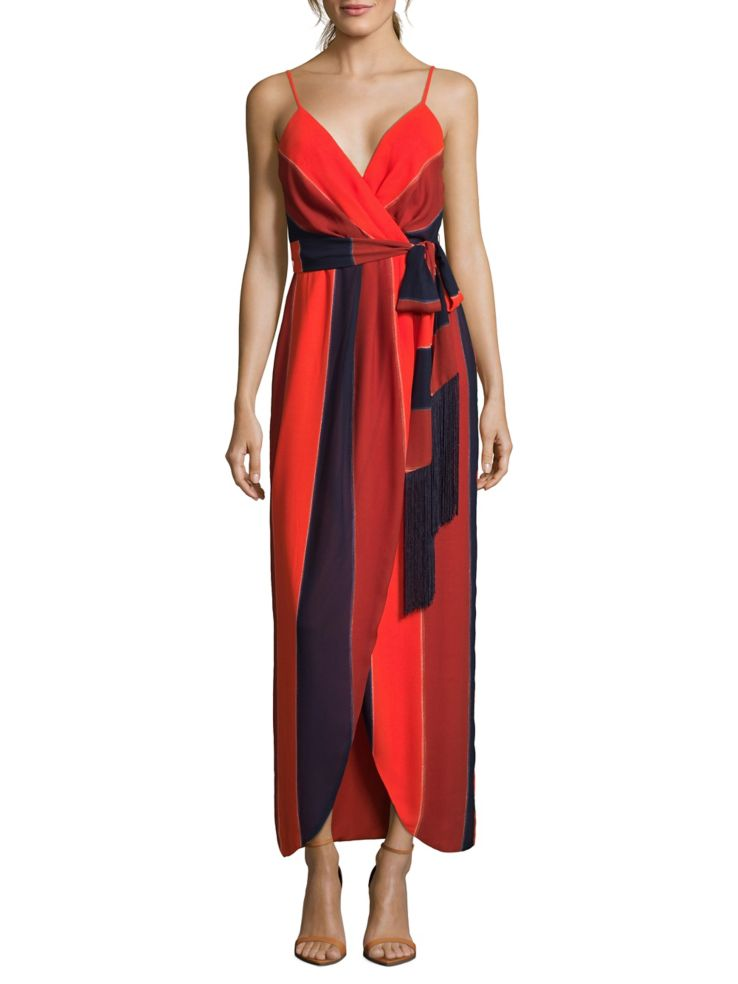 Nicole Miller New York - Tri-Tone Wrap Dress - lordandtaylor.com