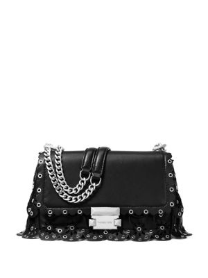 Small Sloan Chain Leather Shoulder Bag by Michael Michael Kors