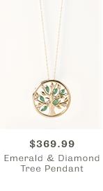 Shop Emerald & Diamond Tree Pendant