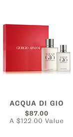 Acqua Di Gio, $87 ($122 VALUE)