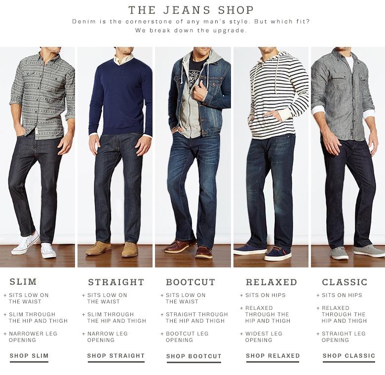 Slim Bootcut Jeans Mens