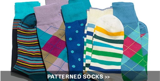 bright patterned socks