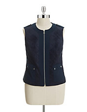 Plus Quilted Zip Vest