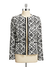 Open Jacquard Jacket