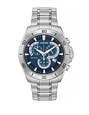 Chronograph Eco-Drive Stainless Steel Bracelet Watch