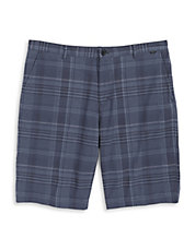 Multi Plaid Slub Shorts