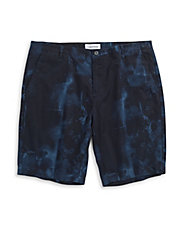 Slate Print Slim Fit Shorts