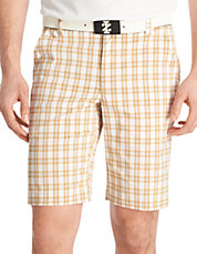 Flat Front Relaxed Plaid Golf Short