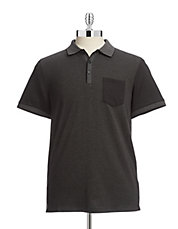 Jacquard Blocked Pocket Polo