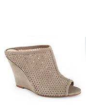 Corva Perforated Wedge Mule