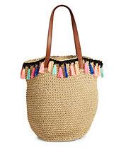 designer handbags images ff6o  Tassle Paper Tote Bag