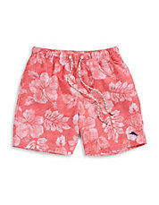 Faded Floral Swim Trunks