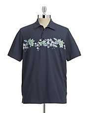 Floral Pima Cotton-Blend Polo