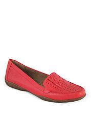 Jasmera Perforated Leather Loafers
